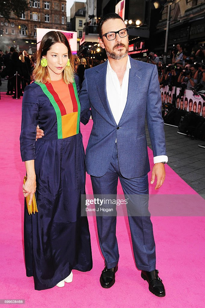 Sienna Guillory and Enzo Cilenti arrive for the world premiere of 'Bridget Jones's Baby' at Odeon Leicester Square on September 5, 2016 in London, England.