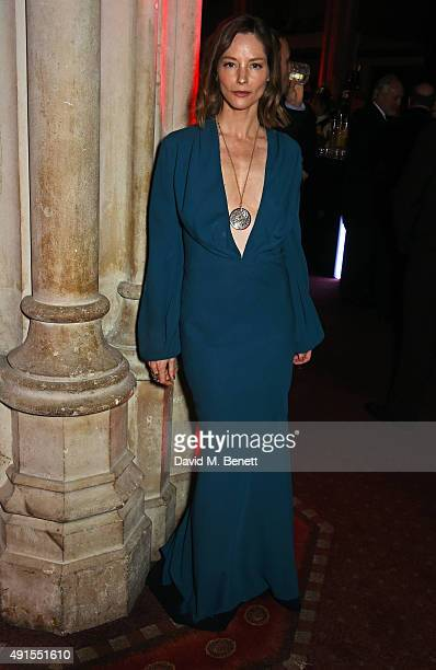 Sienna Guillory attends a cocktail reception at the BFI Luminous Fundraising Gala in partnership with IWC and crystals by Swarovski at The Guildhall...