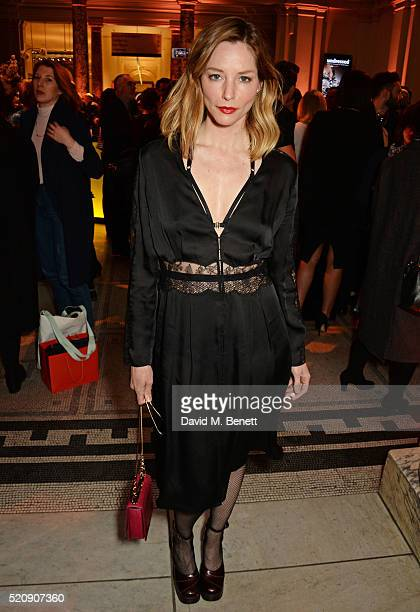 Sienna Guillory attends a private view of new exhibition 'Undressed A Brief History Of Underwear' at The VA on April 13 2016 in London England