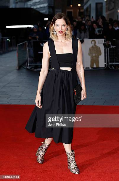 Sienna Guillory attends the 'Free Fire' Closing Night Gala screening during the 60th BFI London Film Festival at Odeon Leicester Square on October 16...