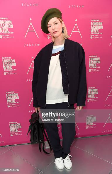 Sienna Guillory attends the Jigsaw London Fashion Week show on February 21 2017 in London England