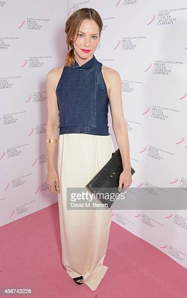 Sienna Guillory attends the launch of The Estee Lauder Companies' UK Breast Cancer Awareness Campaign 2014 'Hear Our Stories Share Yours' at...
