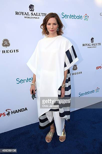 Sienna Guillory attends The Sentebale Polo Cup presented by Royal Salute World Polo at Ghantoot Polo Club on November 20 2014 in Abu Dhabi United...