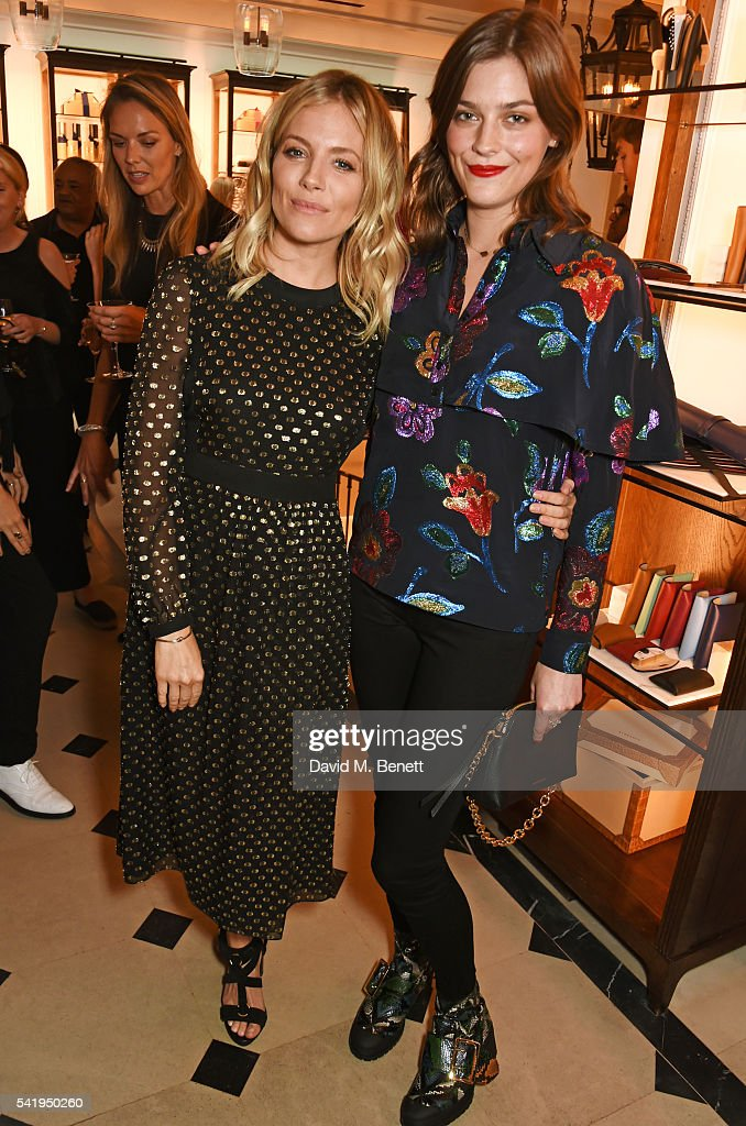 Sienna Miller and Amber Anderson attend the launch of Wendy Rowe's new book 'Eat Beautiful' hosted by Sienna Miller at Burberry's all day cafe...