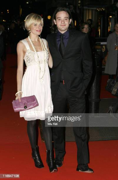 Sienna Miller and Charlie Cox during 'Casanova' London Premiere Arrivals at Vue Cinema Leicester Square in London Great Britain