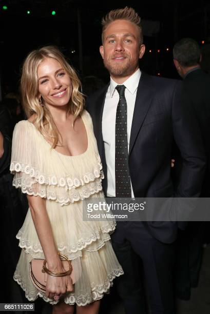Sienna Miller and Charlie Hunnam attend the Amazon Studios and Bleeker Street's Los Angeles Premiere Of James Gray's THE LOST CITY OF Z on April 5...