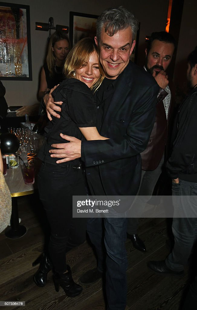 Sienna Miller and Danny Huston attend the launch of 100 Wardour St on January 28 2016 in London England