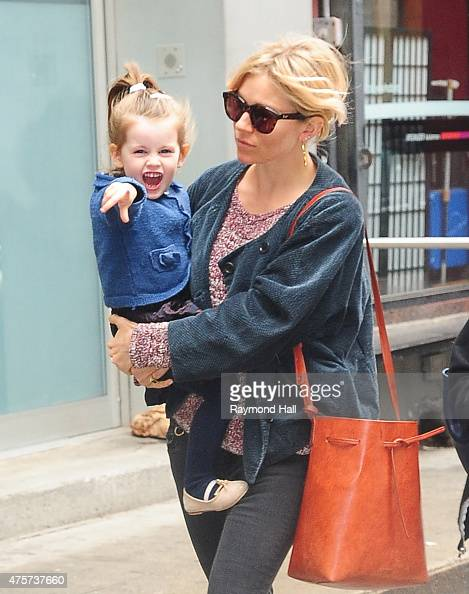 Sienna Miller and daughter Marlowe Ottoline Layng Sturridge are seen in Soho n June 3 2015 in New York City