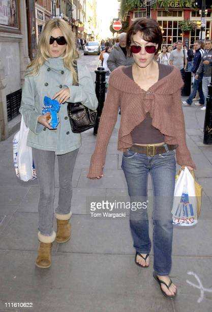Sienna Miller and Helen McCrory shopping before her last performance of play 'As You Like It'