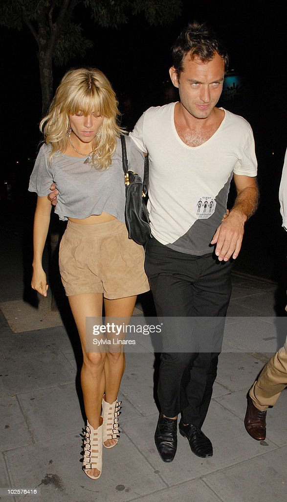 Sienna Miller and Jude Law attend The Dead Weather Gig held at the Roundhouse on June 28, 2010 in London, England.