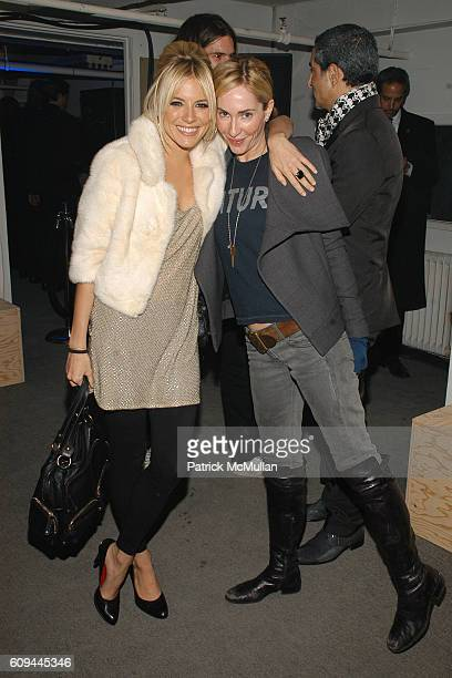 Sienna Miller and Lauryn Flynn attend CALVIN KLEIN Global Launch of ckIN2U Fragrances Hosted by Sienna Miller and Kevin Zegers at 313 West 37th...