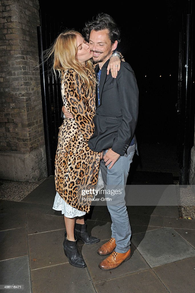 Sienna Miller and Matthew Williamson at London Fashion Week on September 16, 2013 in London, United Kingdom.