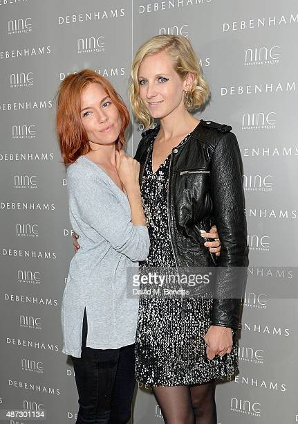 Sienna Miller and Savannah Miller attend the Nine by Savannah Miller for Debenhams Launch Party at The Roof Terrace Ham Yard Hotel on September 8...