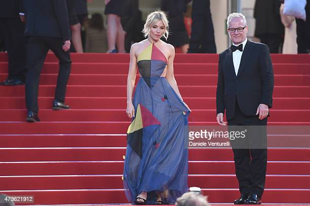 Sienna Miller and Thierry Fremaux attend 'The Sea Of Trees' Premiere during the 68th annual Cannes Film Festival on May 16 2015 in Cannes France
