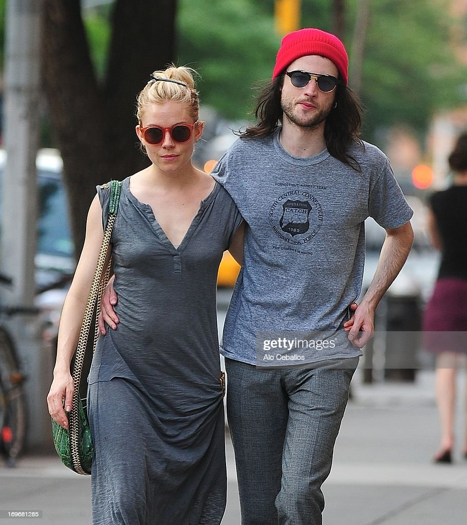<a gi-track='captionPersonalityLinkClicked' href=/galleries/search?phrase=Sienna+Miller&family=editorial&specificpeople=171883 ng-click='$event.stopPropagation()'>Sienna Miller</a> and <a gi-track='captionPersonalityLinkClicked' href=/galleries/search?phrase=Tom+Sturridge&family=editorial&specificpeople=2666406 ng-click='$event.stopPropagation()'>Tom Sturridge</a> are seen in the West Village on May 30, 2013 in New York City.