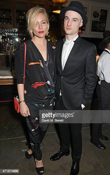Sienna Miller and Tom Sturridge attend an after party following the press night performance of 'American Buffalo' at The National Cafe on April 27...