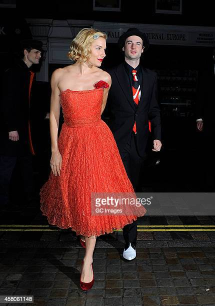 Sienna Miller and Tom Sturridge attend Mario Testino's Birthday party at The Chiltern Firehouse on October 29 2014 in London England