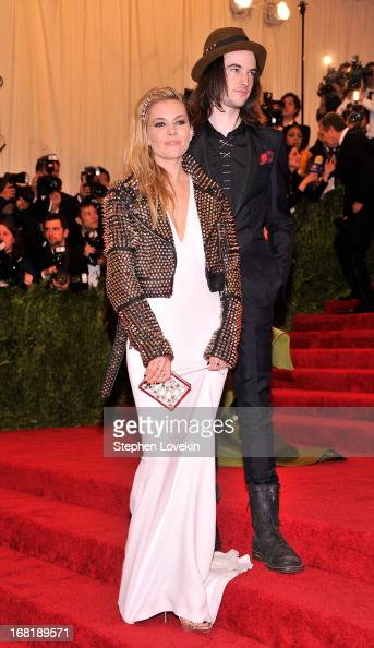 Sienna Miller and Tom Sturridge attend the Costume Institute Gala for the 'PUNK Chaos to Couture' exhibition at the Metropolitan Museum of Art on May...