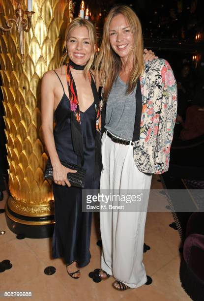 Sienna Miller and Tori Cook attend the Rockins party to celebrate the Rockins Selfridges PopUp Shop at Park Chinois supported by Ciroc on July 4 2017...