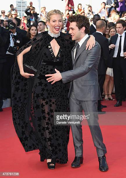 Sienna Miller and Xavier Dolan attend the 'Carol' Premiere during the 68th annual Cannes Film Festival on May 17 2015 in Cannes France