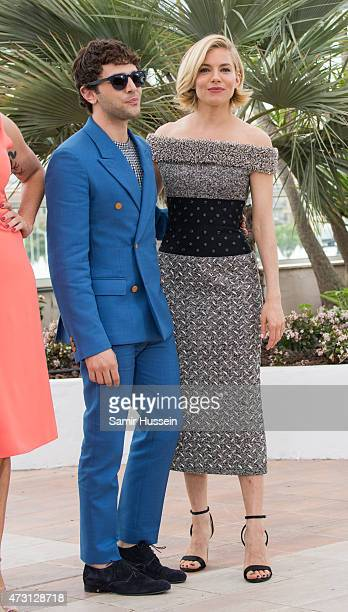 Sienna Miller and Xavier Dolan attend the Jury photocall during the 68th annual Cannes Film Festival on May 13 2015 in Cannes France