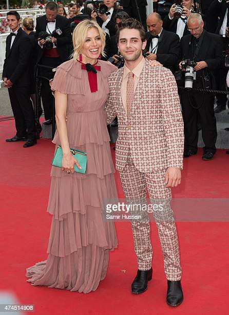 Sienna Miller and Xavier Dolan attend the 'Macbeth' Premiere during the 68th annual Cannes Film Festival on May 23 2015 in Cannes France