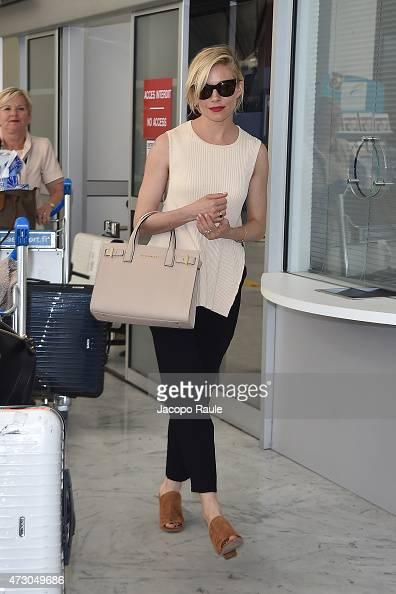 Sienna Miller arrives at Nice Airport during the 68th annual Cannes Film Festival on May 12 2015 in Cannes France