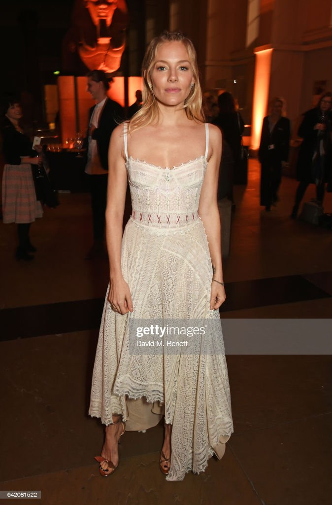 Sienna Miller arrives at The Lost City of Z UK Premiere at The British Museum on February 16, 2017 in London, United Kingdom.
