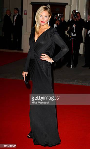 Sienna Miller arrives at the Orange British Academy Film Awards 2008 held at the Royal Opera House on February 10 2008 in London England