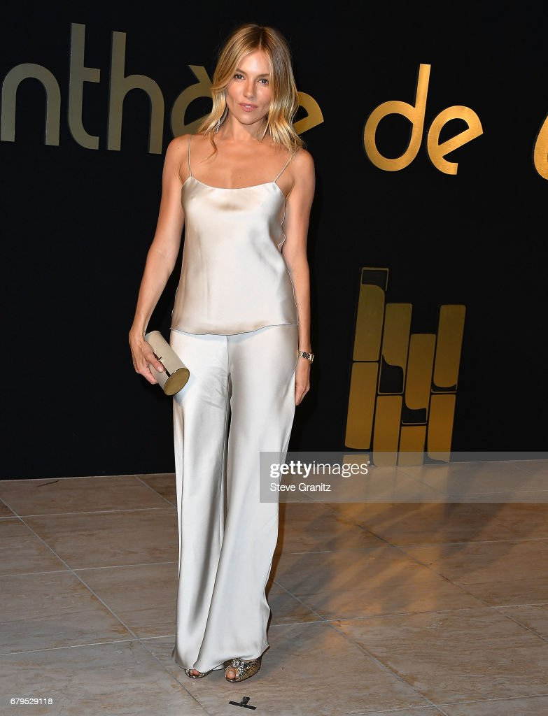 Sienna Miller arrives at the Panthere De Cartier Party In LA at Milk Studios on May 5, 2017 in Los Angeles, California.