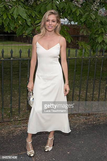Sienna Miller arrives for the Serpentine Summer Party at The Serpentine Gallery on July 6 2016 in London England