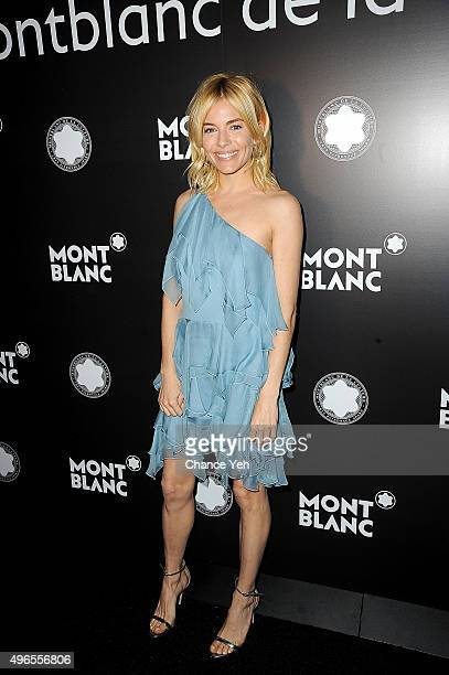 Sienna Miller attends 24th anniversary Year of Montblanc De La Culture Arts Patronage Awards at Kappo Masa on November 10 2015 in New York City