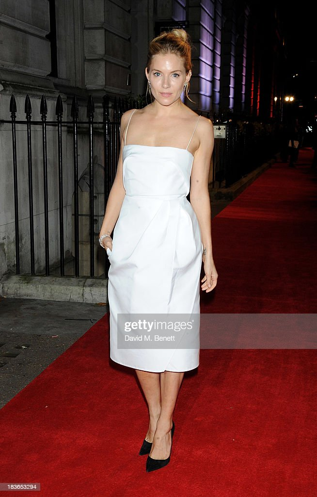<a gi-track='captionPersonalityLinkClicked' href=/galleries/search?phrase=Sienna+Miller&family=editorial&specificpeople=171883 ng-click='$event.stopPropagation()'>Sienna Miller</a> attends a BFI Luminous Gala ahead of the London Film Festival at 8 Northumberland Avenue on October 8, 2013 in London, England.