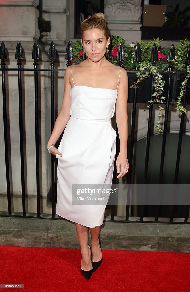 <a gi-track='captionPersonalityLinkClicked' href=/galleries/search?phrase=Sienna+Miller&family=editorial&specificpeople=171883 ng-click='$event.stopPropagation()'>Sienna Miller</a> attends a gala dinner hosted by the BFI ahead of the London Film Festival at 8 Northumberland Avenue on October 8, 2013 in London, England.