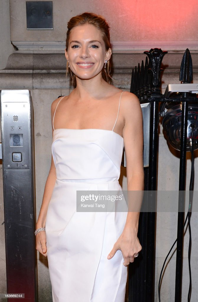 Sienna Miller attends a gala dinner hosted by the BFI ahead of the London Film Festival at 8 Northumberland Avenue on October 8, 2013 in London, England.