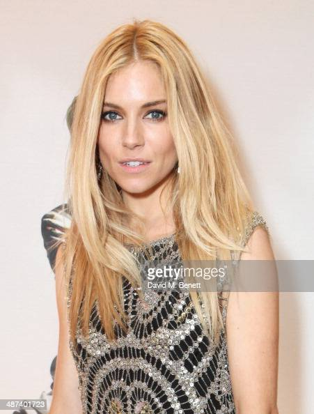 Sienna Miller attends a private dinner celebrating the Global Launch of the 'Kate Moss for TopShop Collection' at The Connaught Hotel on April 29...