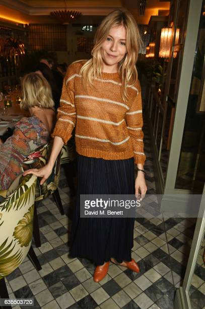 Sienna Miller attends a private dinner celebrating the new bridal collection by Savannah Miller at The Ivy Chelsea Garden on February 15 2017 in...