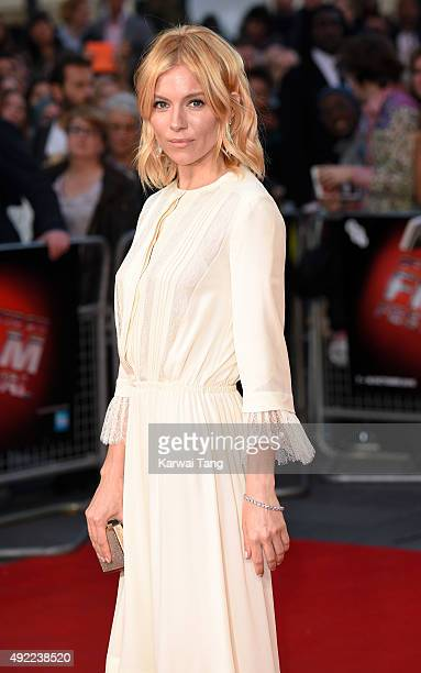 Sienna Miller attends a screening of 'High Rise' during the BFI London Film Festival at Odeon Leicester Square on October 9 2015 in London England