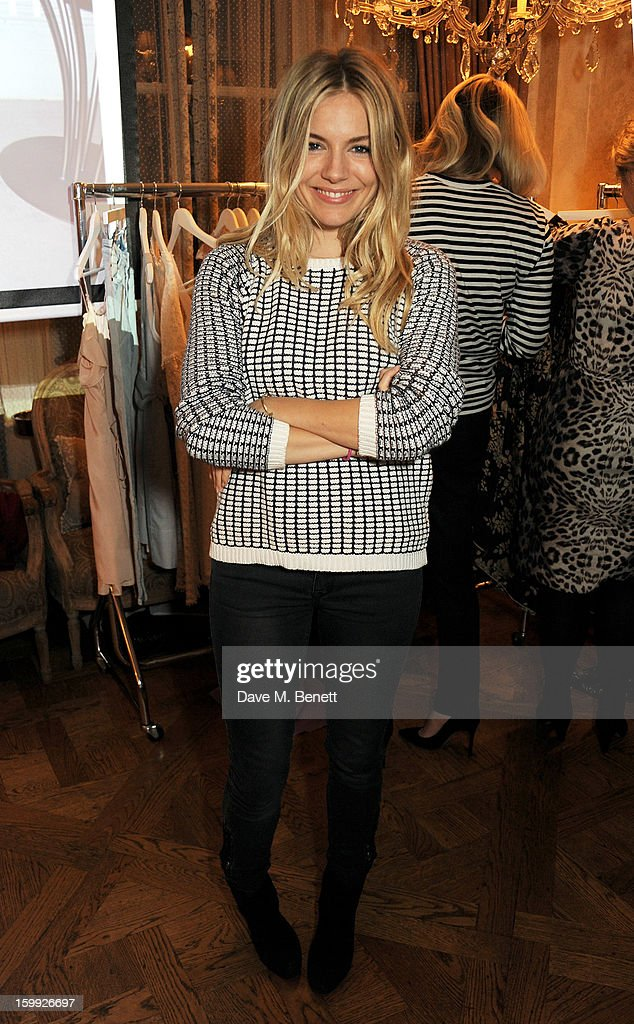<a gi-track='captionPersonalityLinkClicked' href=/galleries/search?phrase=Sienna+Miller&family=editorial&specificpeople=171883 ng-click='$event.stopPropagation()'>Sienna Miller</a> attends afternoon tea hosted by Savannah Miller to celebrate the launch of the Savannah Spring/Summer 2013 collection at Mari Vanna on January 23, 2013 in London, England.