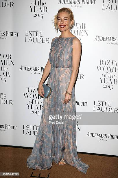 Sienna Miller attends Harper's Bazaar Women of the Year Awards at Claridge's Hotel on November 3 2015 in London England