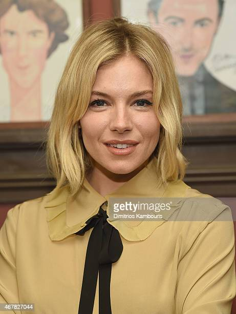 Sienna Miller attends her Sardi's Caricature Unveiling at Sardi's on March 27 2015 in New York City