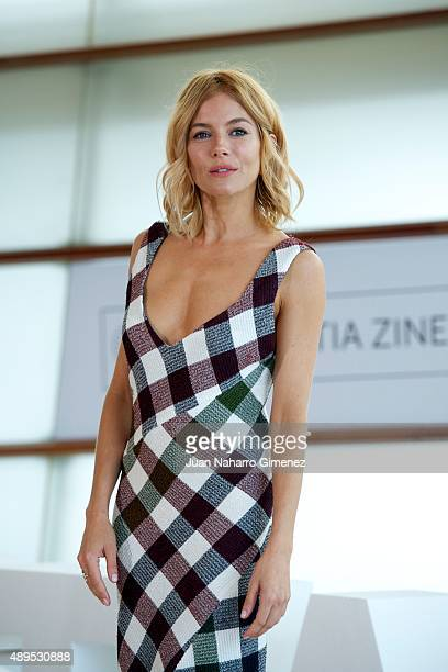 Sienna Miller attends 'HighRise' photocall during 63rd San Sebastian Film Festival on September 22 2015 in San Sebastian Spain