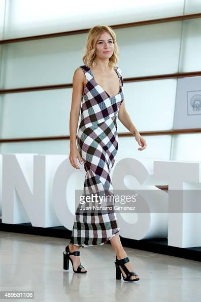 Sienna Miller attends 'HighRise' photocall during 63rd San Sebastian Film Festival on September 22 2015 in San Sebastian Spain
