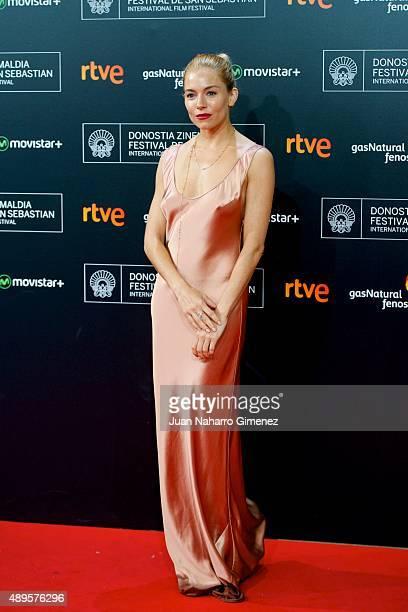 Sienna Miller attends 'HighRise' premiere during 63rd San Sebastian Film Festival on September 22 2015 in San Sebastian Spain