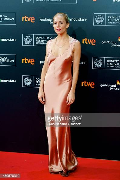 Sienna Miller attends 'HighRise' premiere during 63rd San Sebastian Film Festival on September 22 2015 in San Sebastian Spain