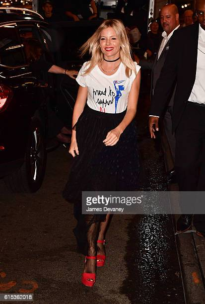 Sienna Miller attends Hillary Victory Fund Stronger Together concert at St James Theatre on October 17 2016 in New York City