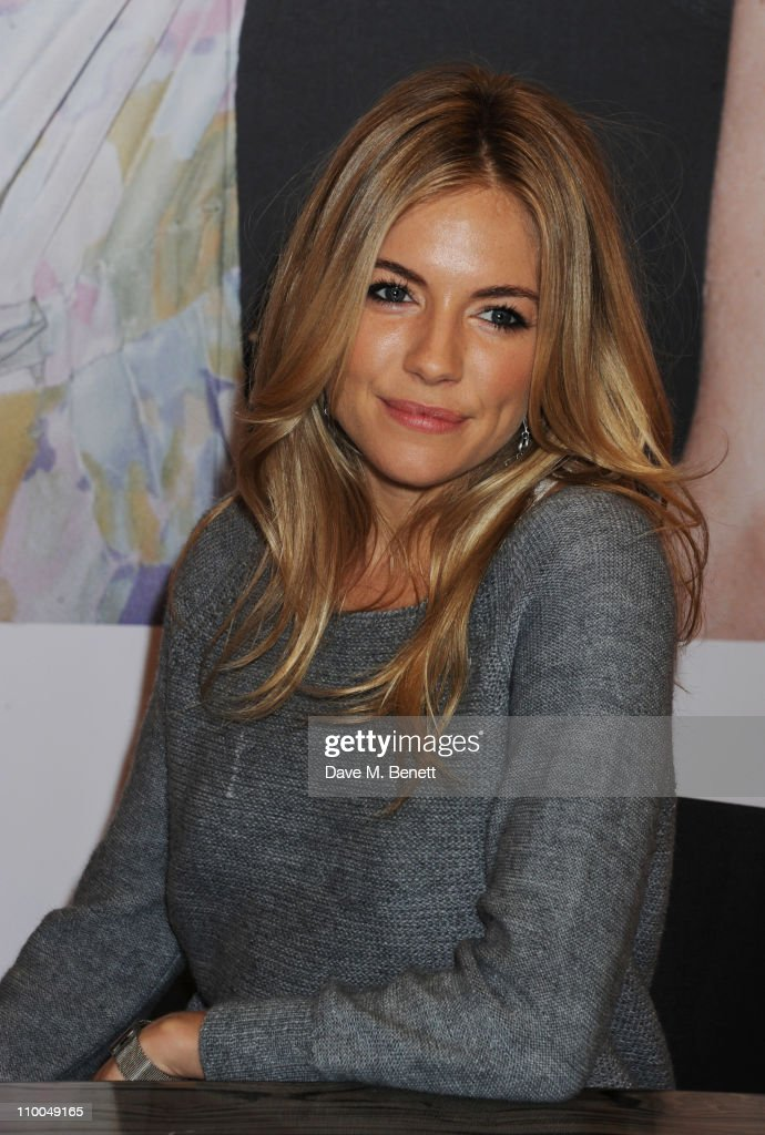 Sienna Miller attends photocall at launch of new Twenty8Twelve collection at Selfridges on March 14, 2011 in London, England.