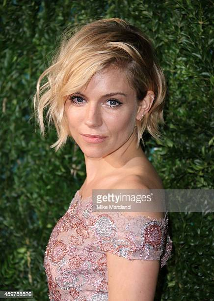 Sienna Miller attends the 60th London Evening Standard Theatre Awards at London Palladium on November 30 2014 in London England