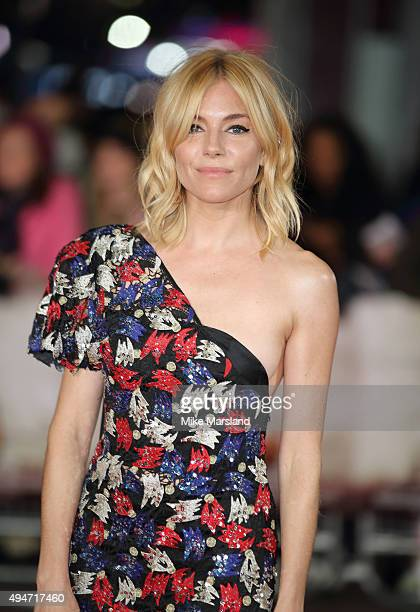 Sienna Miller attends the 'Burnt' European premiere at the Vue West End on October 28 2015 in London England