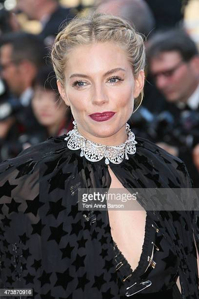Sienna Miller attends the 'Carol' premiere during the 68th annual Cannes Film Festival on May 17 2015 in Cannes France